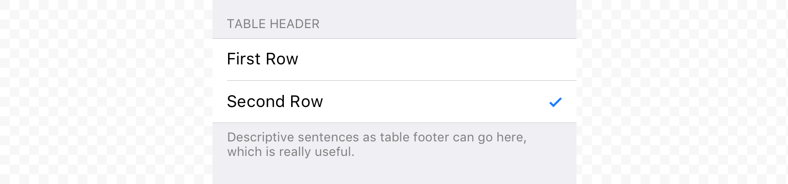 iOS grouped table view